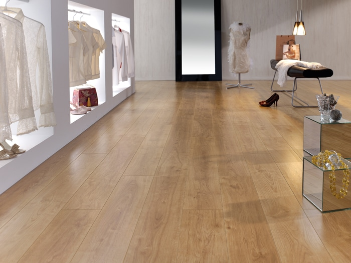 Finfloor 12 roble retro 12 mm club del parquet - Suelo radiante parquet ...